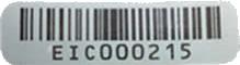 etichetta codice EIC